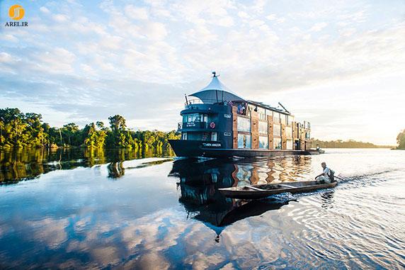 طراحی و معماری هتل شناور در رودخانه آمازون