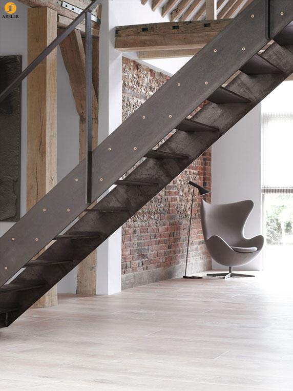 دکوراسیون داخلی منزل با پله هایی که جا به جا می شوند
