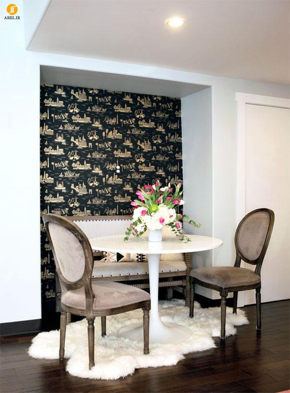 طراحی و دکوراسیون داخلی منزل با کاغذ دیواری