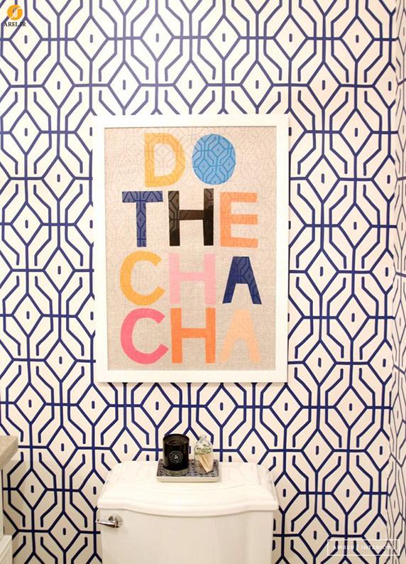طراحی داخلی منزل با کاغذ دیواری