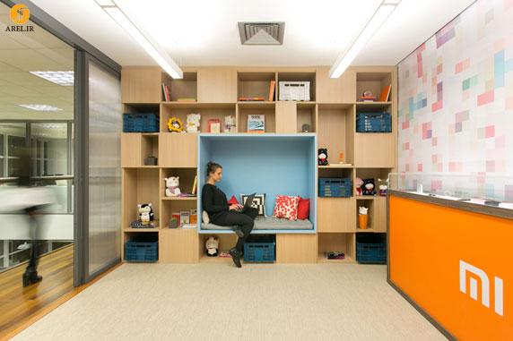 طراحی داخلی دفتر اداری به همراه فضاهایی برای استراحت کارکنان