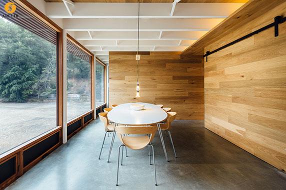 دکوراسیون منزل : طراحی درب کشویی برای مخفی کردن دفتر کار