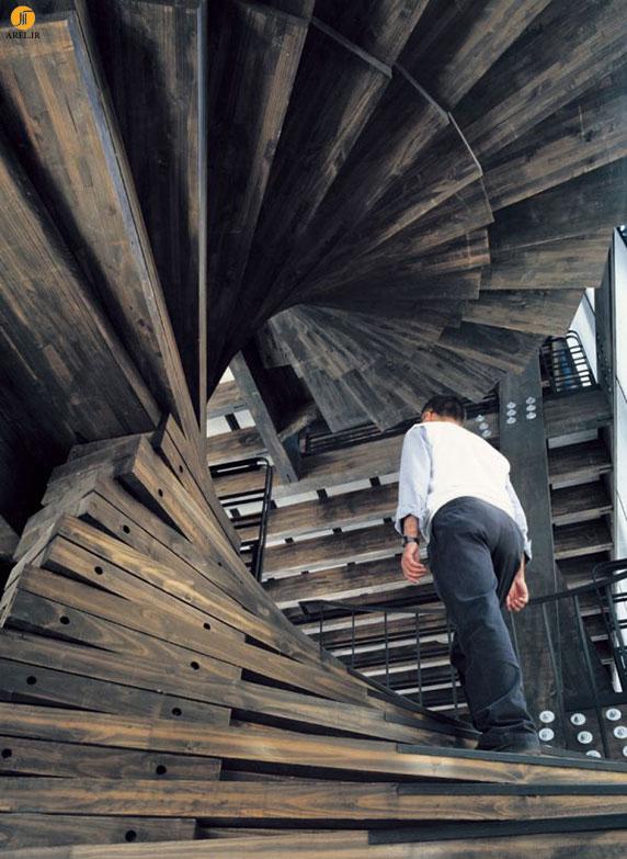 طراحی راه پله های خلاقانه در طراحی و دکوراسیون داخلی