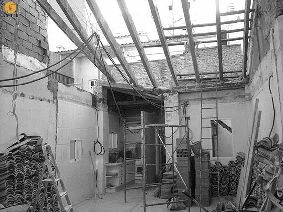 بازسازی و طراحی داخلی ساختمان مسکونی