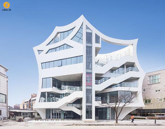 معماری ساختمان با ایده و کانسپت گل