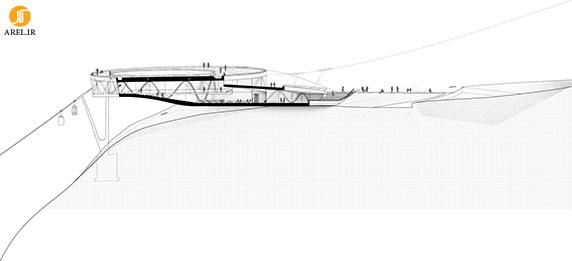 طراحی و معماری منظرگاه بالای کوه