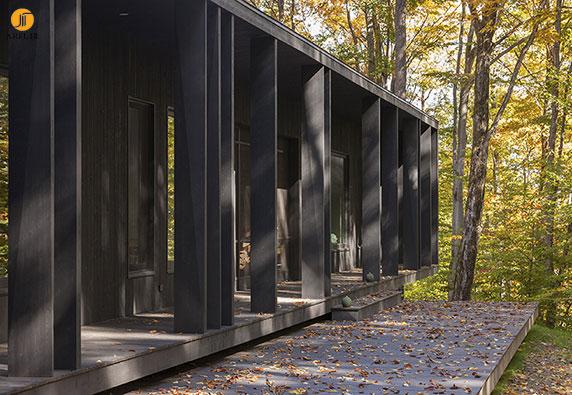 طراحی و معماری ویلا تابستانی و جنگلی