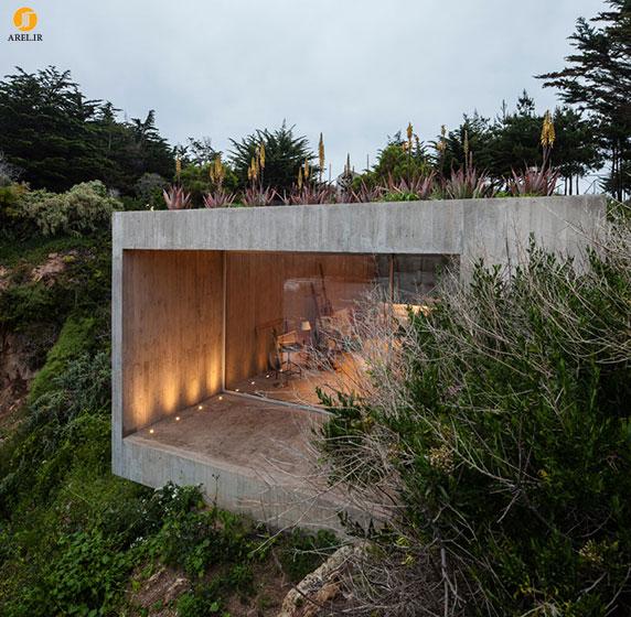 طراحی و معماری ساختمان در زیر فضای سبز سایت