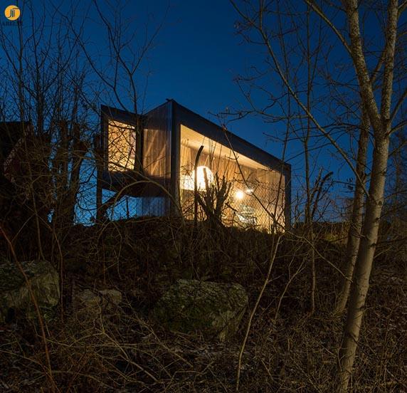 معماری و طراحی کلبه ای برای نویسنده ای نروژی