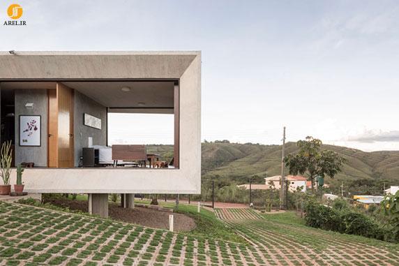 طراحی ویلا بتنی در طبیعت برزیل