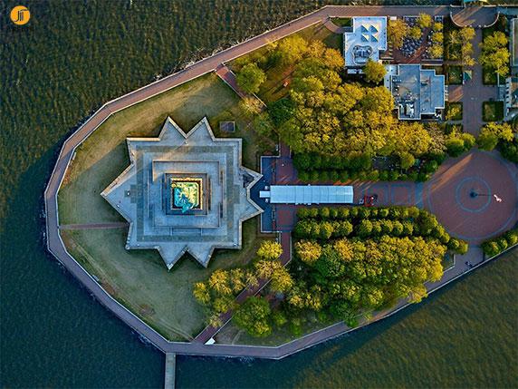 عکاسی هوایی از ساختمان های شهر های نیویورک و لس آنجلس
