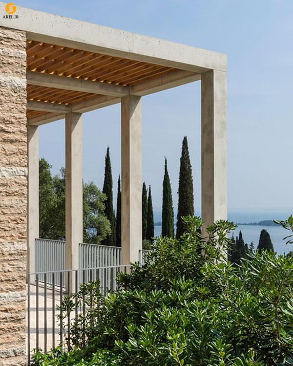 معماری ویلا لوکس در کنار دریاچه گاردا
