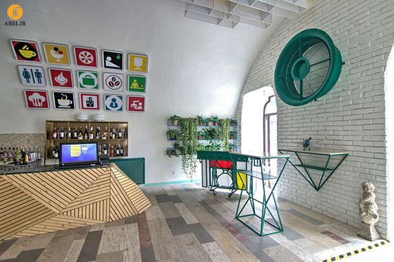طراحی داخلی کافی شاپ به سبک التقاطی