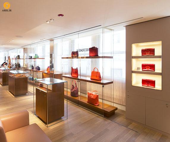 طراحی  دکوراسیون داخلی فروشگاه برند Hermès