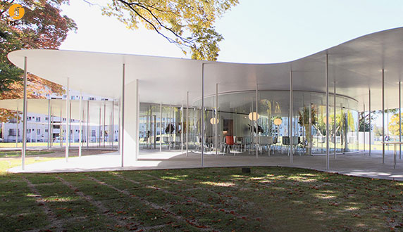 طراحی و معماری کافی شاپ دانشگاه اکایاما
