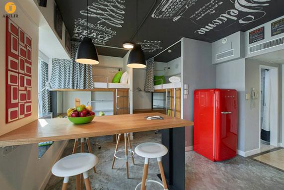 طراحی داخلی خوابگاه دانشجویی در هنگ کنگ