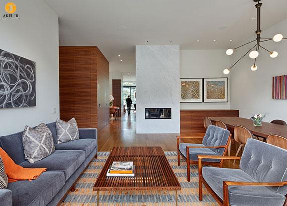 طراحی و دکوراسیون داخلی آپارتمان 3 طبقه برای یک خانواده