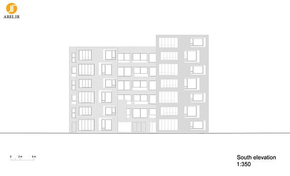 طراحی و معماری ساختمان مسکونی با نمای آجرچینی