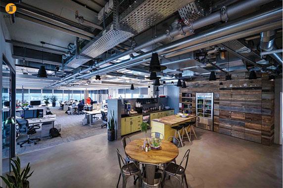 طراحی داخلی دفتر اداری فیس بوک