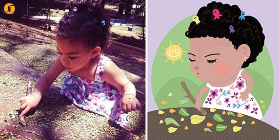 قسمت دوم : تبدیل عکس های کودکان به تصاویر کارتونی با نرم افزار Illustrator