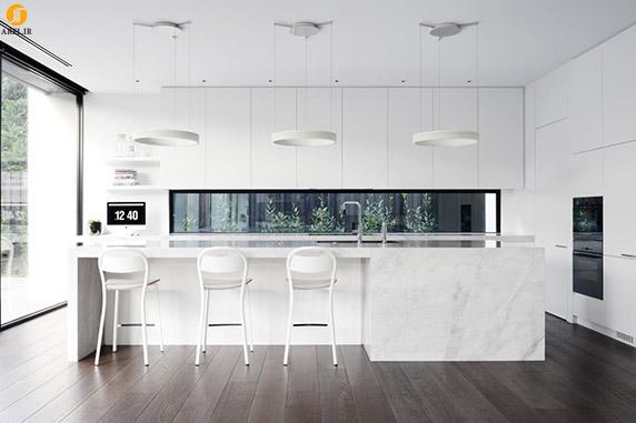 کاربرد رنگ سفید در طراحی داخلی آشپزخانه