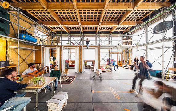 طراحی و معماری ورک شاپ دانشجویی مدولار