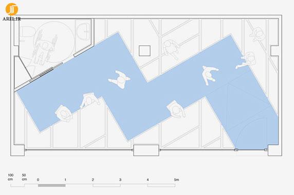 طراحی داخلی آژانس گردشگری alcazar