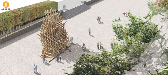 طراحی غرفه چوبی توسط کنگو کوما
