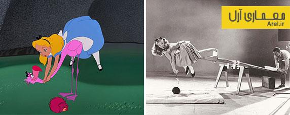 هنر و سینما : عکس های قدیمی مدل والت دیزنی برای انیمیشن آلیس در سرزمین عجایب