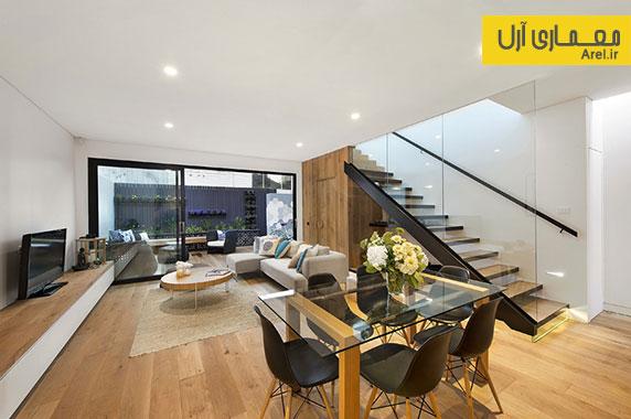 اجرای معماری داخلی مدرن و بازسازی خانه ای مربوط به دوره ویکتوریا