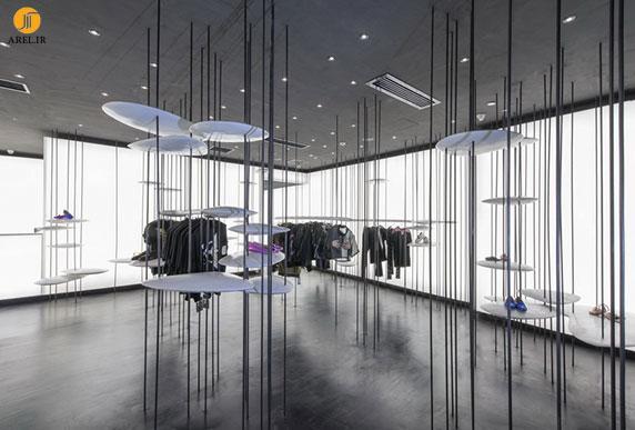 طراحی داخلی بوتیک در شانگهای به شکل جنگل