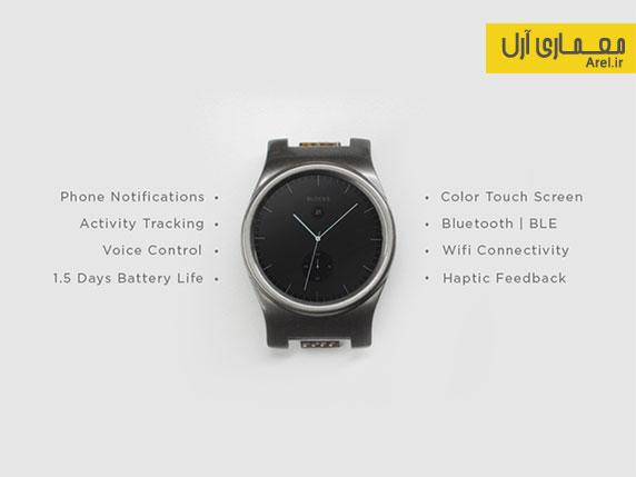 خلاقیت طراح ایرانی و خلق اولین ساعت مچی هوشمند مدولار جهان