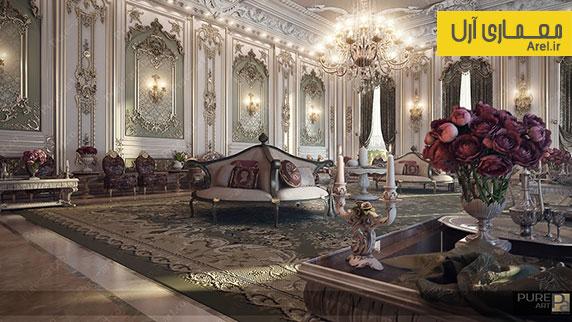 5 نمونه طراحی داخلی لاکچری و کلاسیک در آپارتمان های مسکونی
