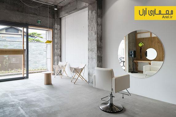 طراحی داخلی سالن زیبایی به سبک مینیمال