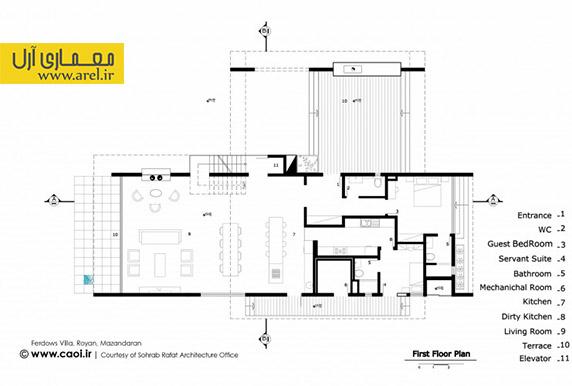 پلان ویلا،جایزه معماری داخلی 93