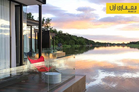 طراحی ویلا های شناور بر روی آب برای اقامت در تعطیلات