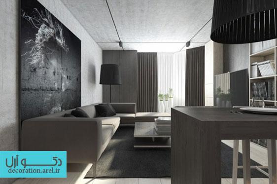 در دکو آرل: بخش اول دکوراسیون داخلی منزل با استفاده از رنگ های تیره و خنثی