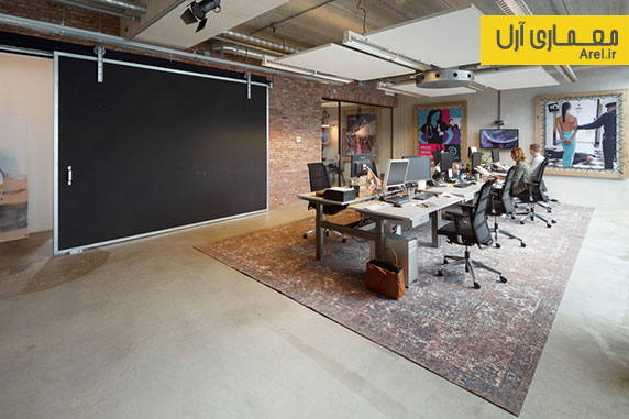 طراحی داخلی دفتر اداری یک شرکت تبلیغاتی