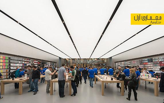 طراحی داخلی فروشگاه اپل،طراحی داخلی مغازه