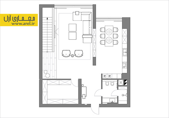 پلان آپارتمان،نقشه معماری آپارتمان