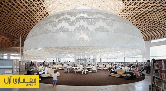 معماری و طراحی داخلی کتابخانه و فروشگاه رسانه ای توسط تویو ایتو
