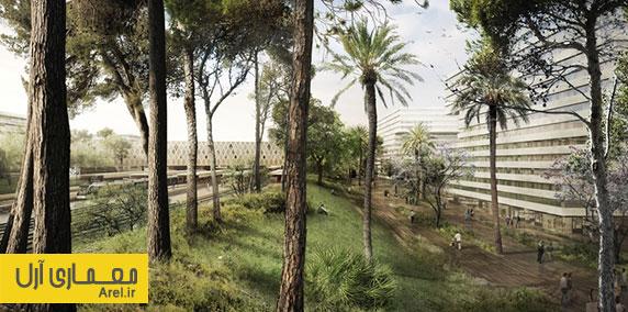 معماری و طراحی ترمینال راه آهن مراکش