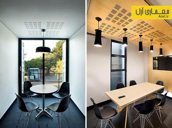 طراحی و دکوراسیون داخلی کافی شاپی که از کانتینر ساخته شده است