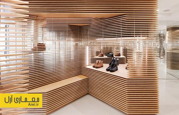 طراحی داخلی فروشگاه کفش FEIT