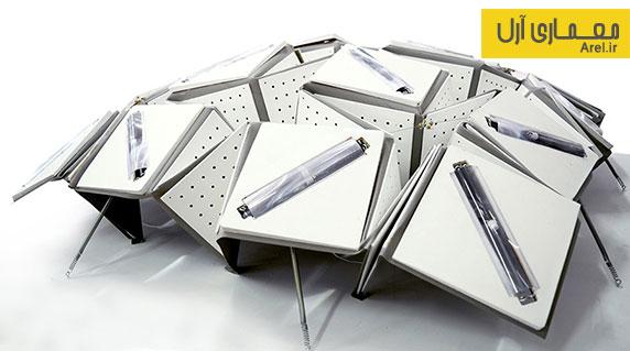 طراحی سلول خورشیدی متحرک که با تغییر حرارت خورشیدی شکل خود را وفق می دهد