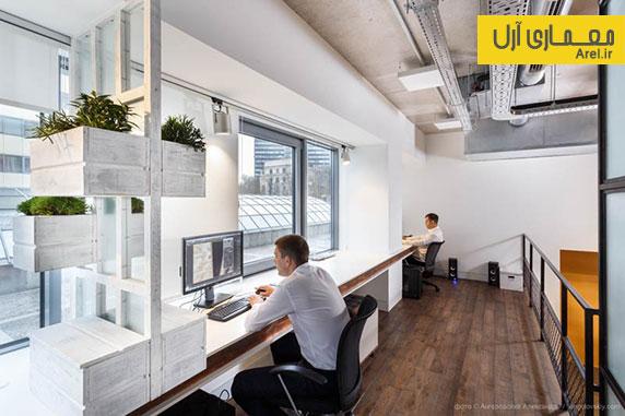 این شرکت طراحی داخلی دفتر اداری و آتلیه معماری خود را انجام داده است