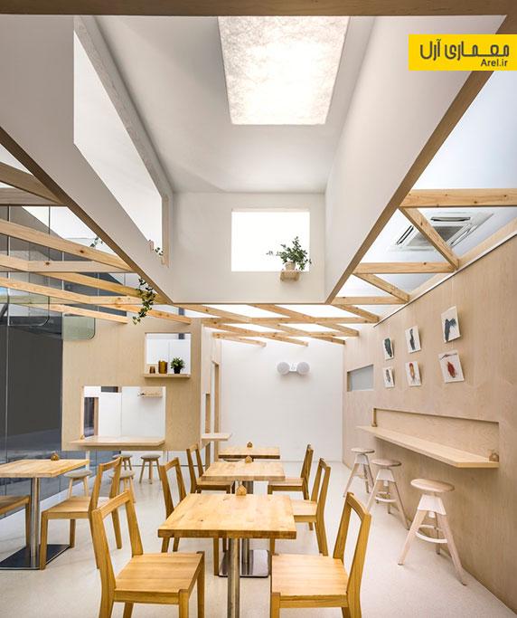 طراحی داخلی مجموعه شیرینی فروشی و ورکشاپ دانشجویی