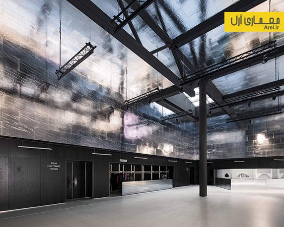 معماری و طراحی داخلی آمفی تئاتر شهر لاپرنتا