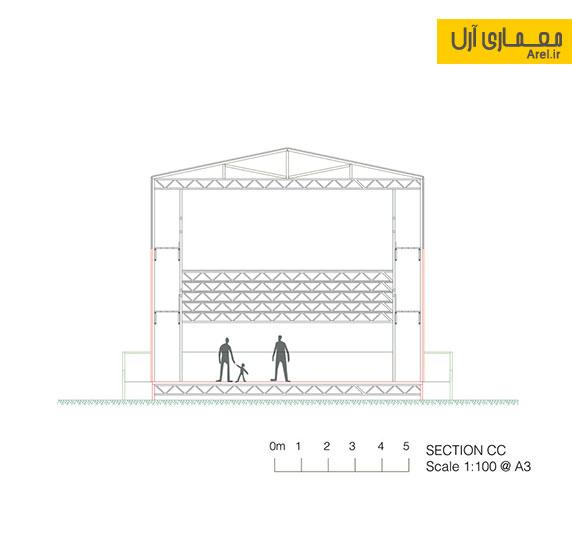 طراحی داخلی آمفی تئاتر محلی
