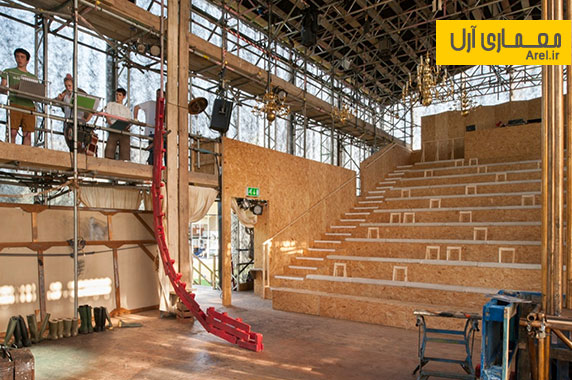 طراحی داخلی آمفی تئاتری محلی برای نمایش های فصلی چیچستر
